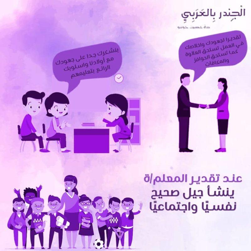 عند تقدير المعلم/ة